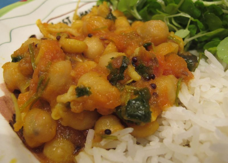 Pois chiches curry tomate